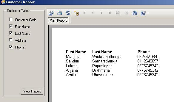 how to create crystal report using sql query in c#