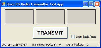 DIS Radio Transmitter Test Application