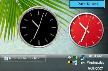 Simple C# widget and windows gadget side-by-side.
