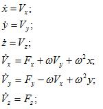 Motion equations