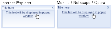 Popup control in Internet Explorer and Mozilla