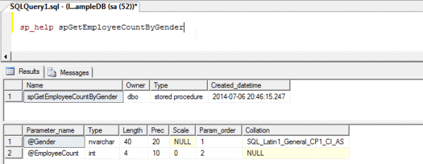 How to write sql stored procedures