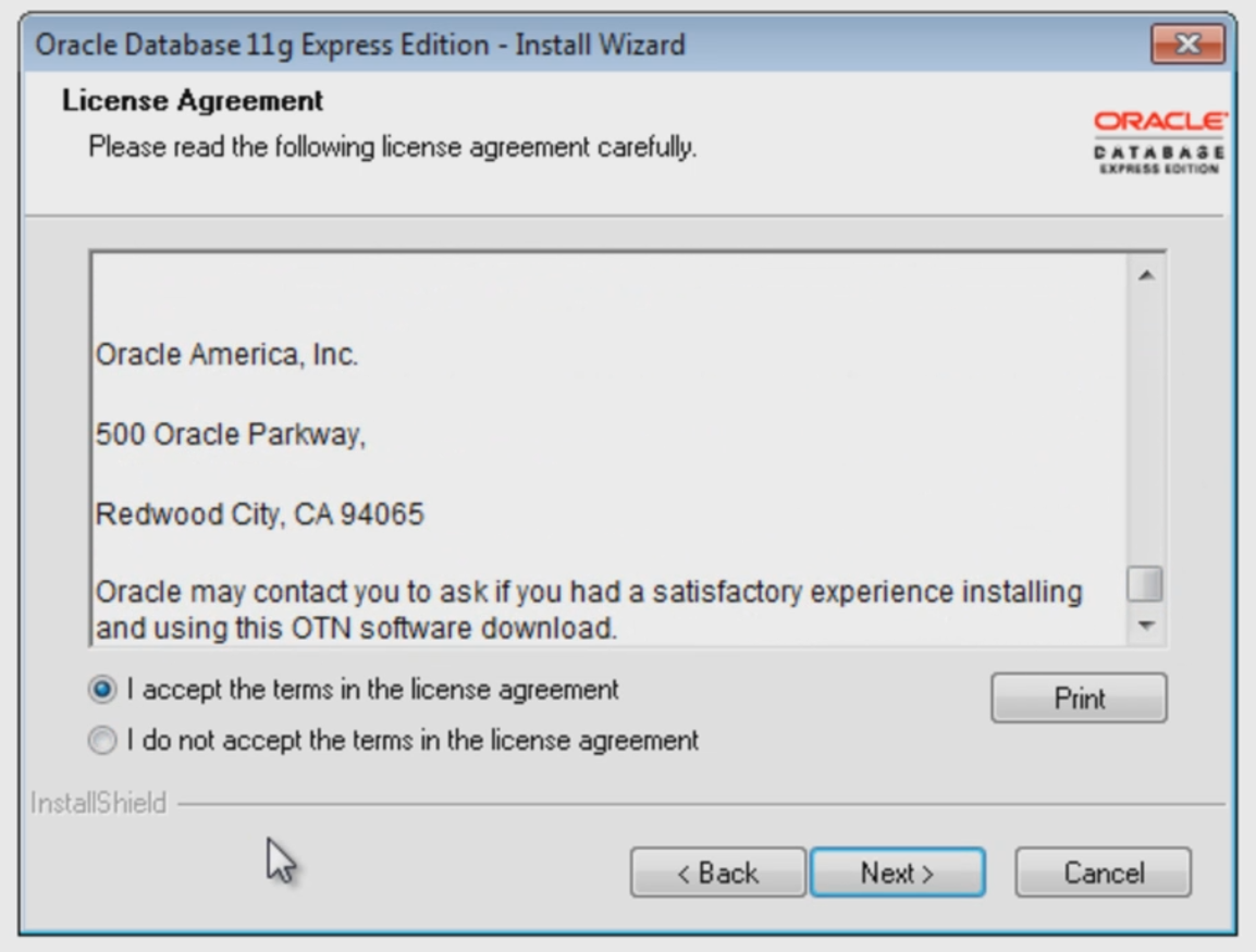 Download and install Oracle 11g : edureka!