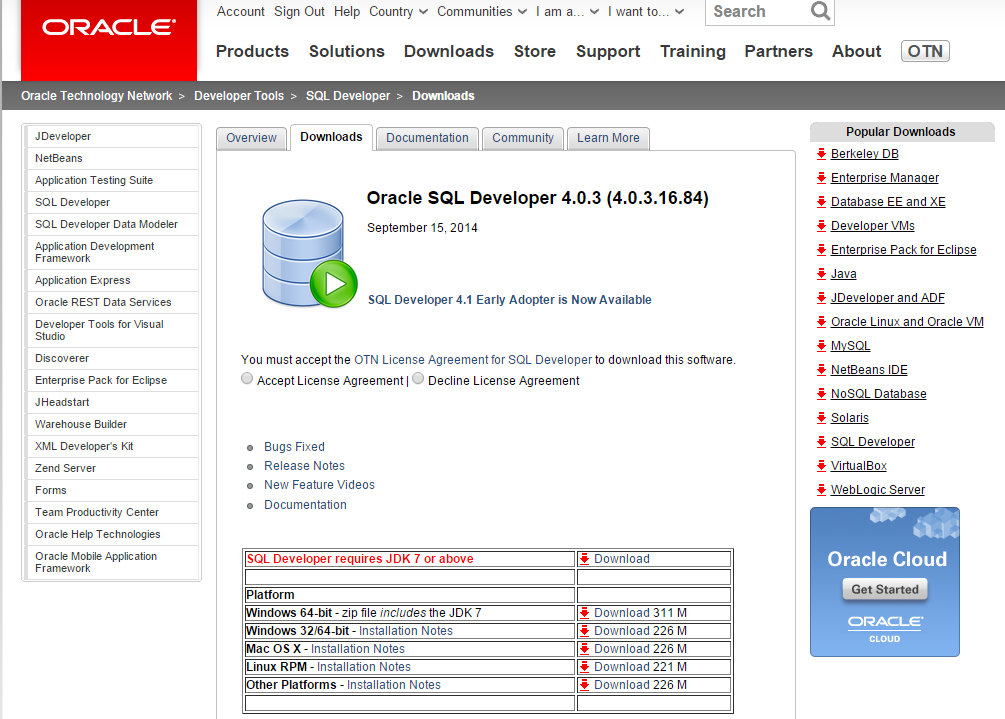 oracle database 11g express edition download for mac