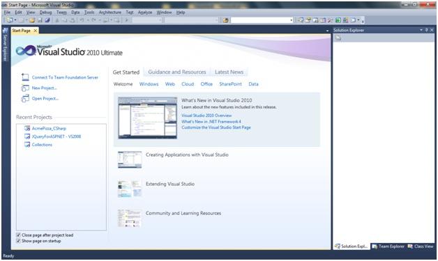 how to make sql database in visual studio 2010