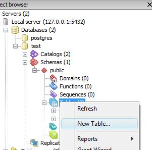How to create new table in PostgreSQL