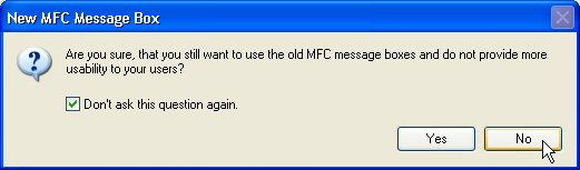 Enhanced MFC message boxes