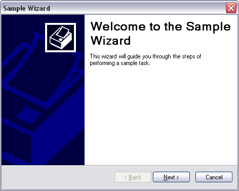 Sample Wizard screenshot