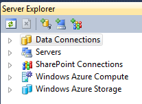 Data Connection node in Server Explorer toolbar
