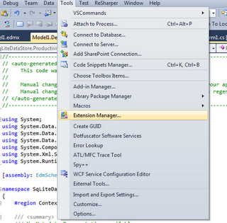 how to add a package manager extension to visual studio