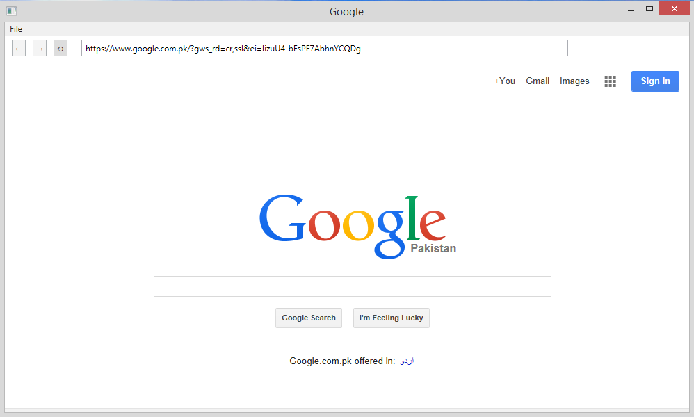 Main Page (Google Homepage)