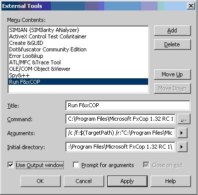 Fxcopcmd.exe options