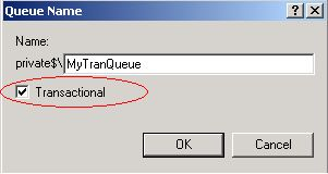 Creating a transactional queue