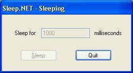 Sleep.NET Main Window
