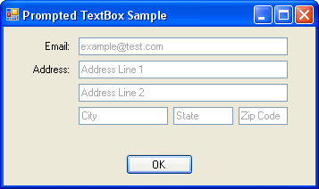 PromptedTextBox Sample