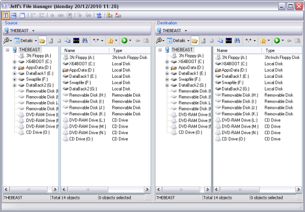 Dual Pane File Manager