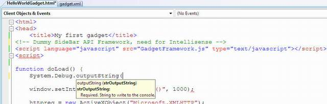 Intellisense in Visual Studio 2008 - Click for full size image