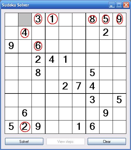 Sudoku Unique Solution Cell