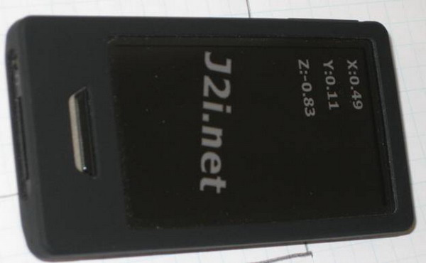 Zune on it's side