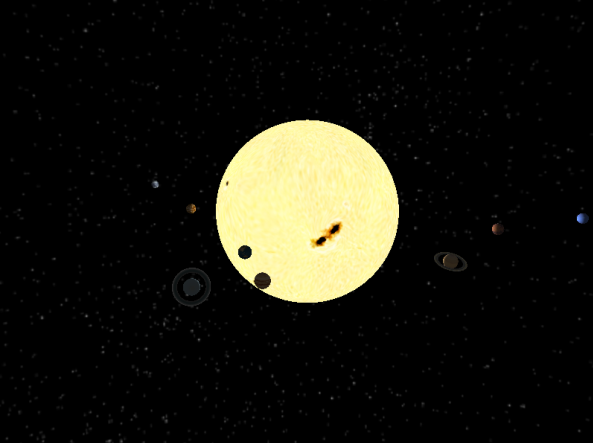 Step 5 Result - Planets movements