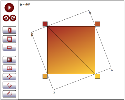 Demo App Screenshot: Gradient at an Arbitrary Angle