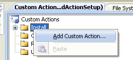 Add custom Action