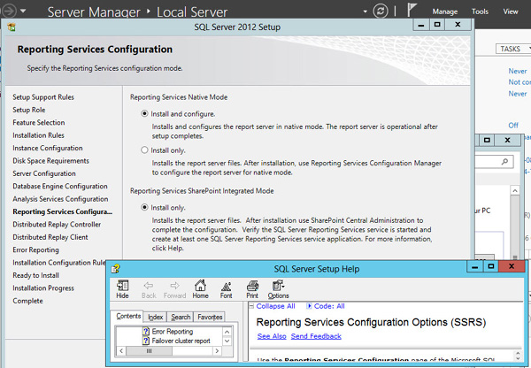 SQL Server 2012 Reporting Services Configuration