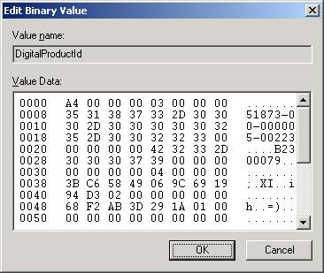 Edit Binary value