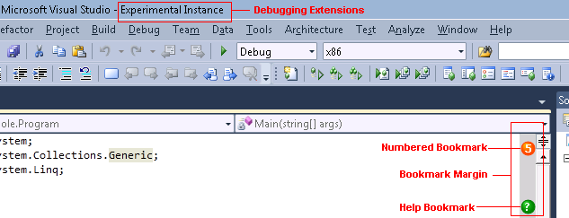 Debugging the extension
