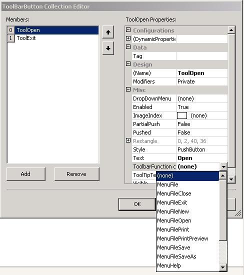 Adding ToolBar Buttons