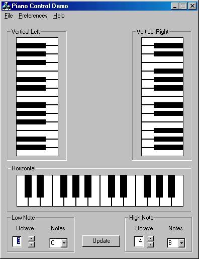 Virtual piano audio