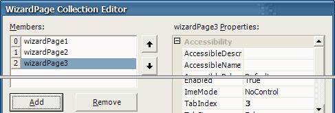 WizardPage Collection Editor