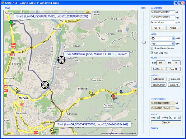Working With Google Maps - Vilnius maps google