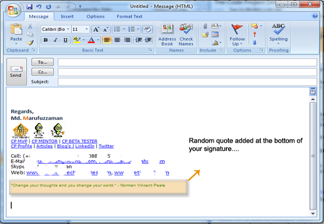 Com Articles Add Random Quotes Your Outlook Email Signature