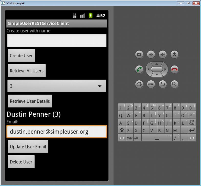 Android client view 1