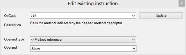 Edit existing instruction