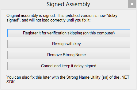 Signed assembly