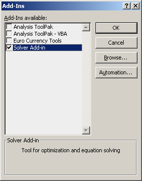 how to add data solver in excel