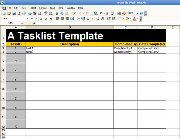 sign up sheet template. an existing template: