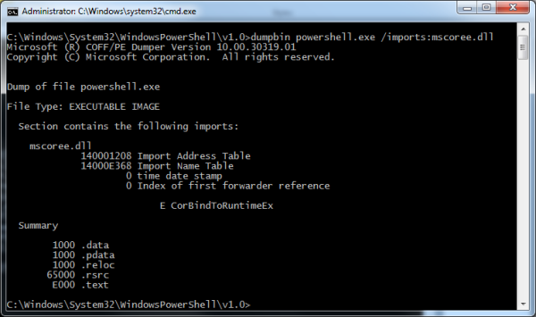 CorBindToRuntimeEx in PowerShell
