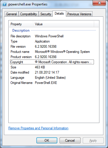 PowerShell 3.0 Property Details