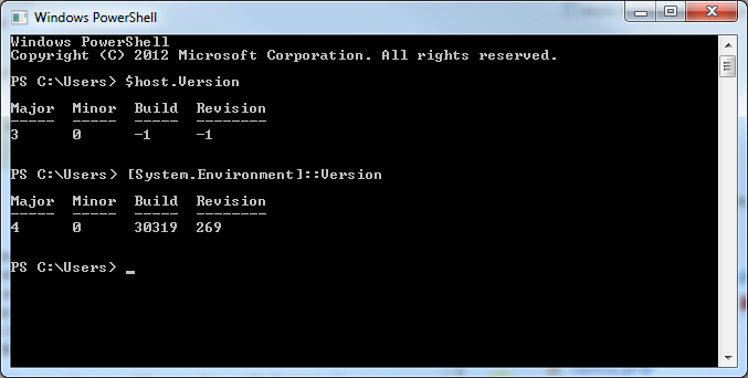 PowerShell 3.0 addresses .NET Framework 4.0