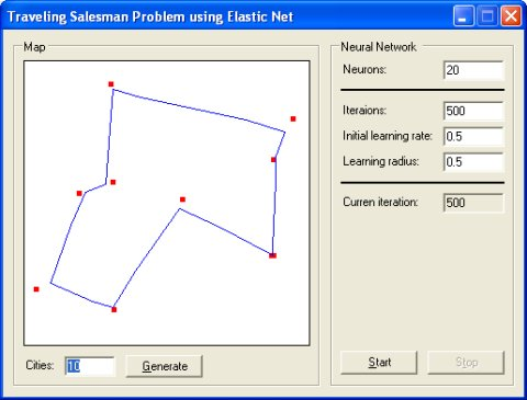 Traveling Salesman Problem Application
