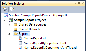 Reports on the Sample Reports Project