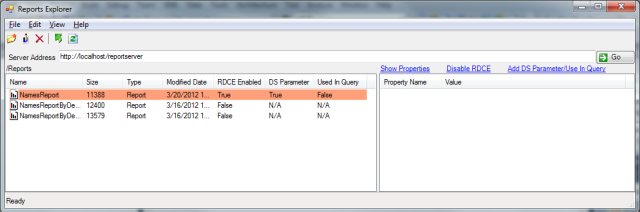'Add DS Parameter/Use In Query' transaction failure from the RSExplorer++ tool