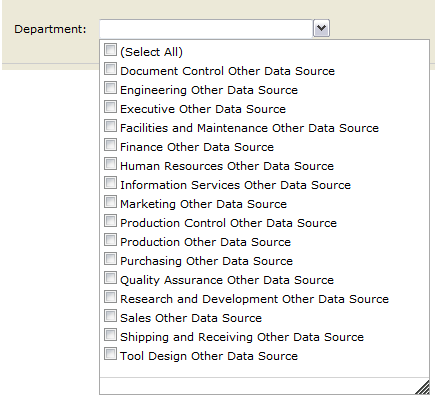 Names Report by Department from the RSExplorer++ tool (parameter)