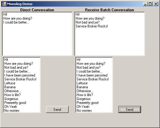 Service broker conversation groups