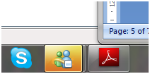 Figure 3. B. Blinking taskbar button asking for user attention.