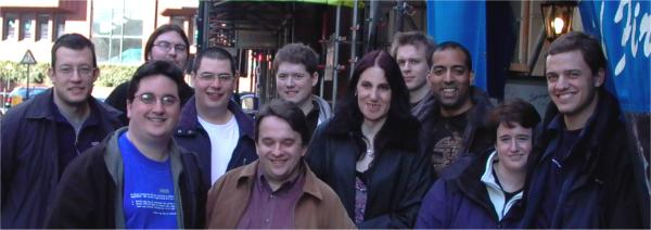 Left to Right: Allan, Sam, Ian, Colin, Iain, Joel, Anna-Jayne, Jonathan, Casper, Megan, Brendon