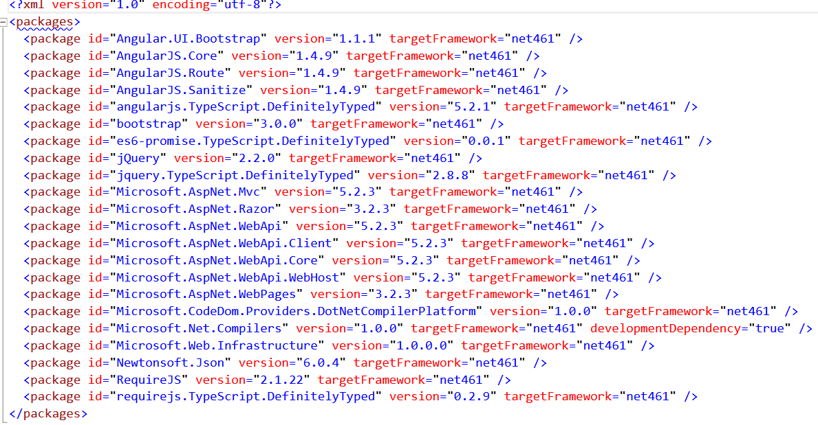 An ASP.NET Application using Typescript, AngularJS, RequireJS, AngularJS-BootStrap UI, WebAPI, Entity Framework.